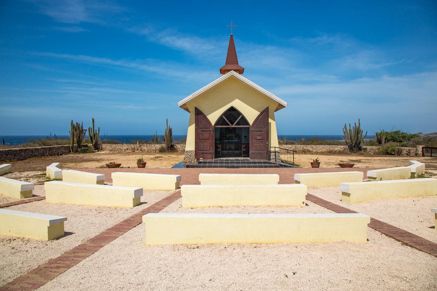 De kapel Alto Vista op Aruba