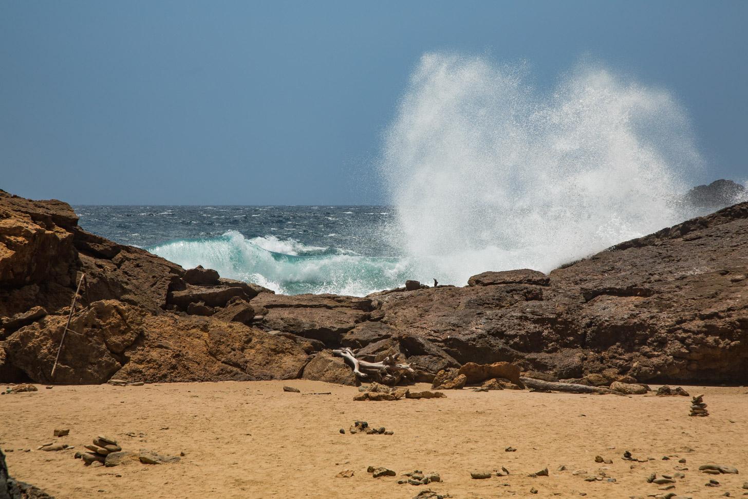 De ruige noordkust van Aruba