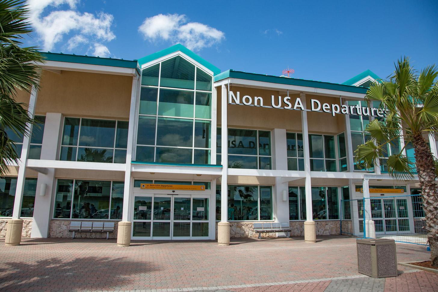 Het internationale vliegveld van Aruba